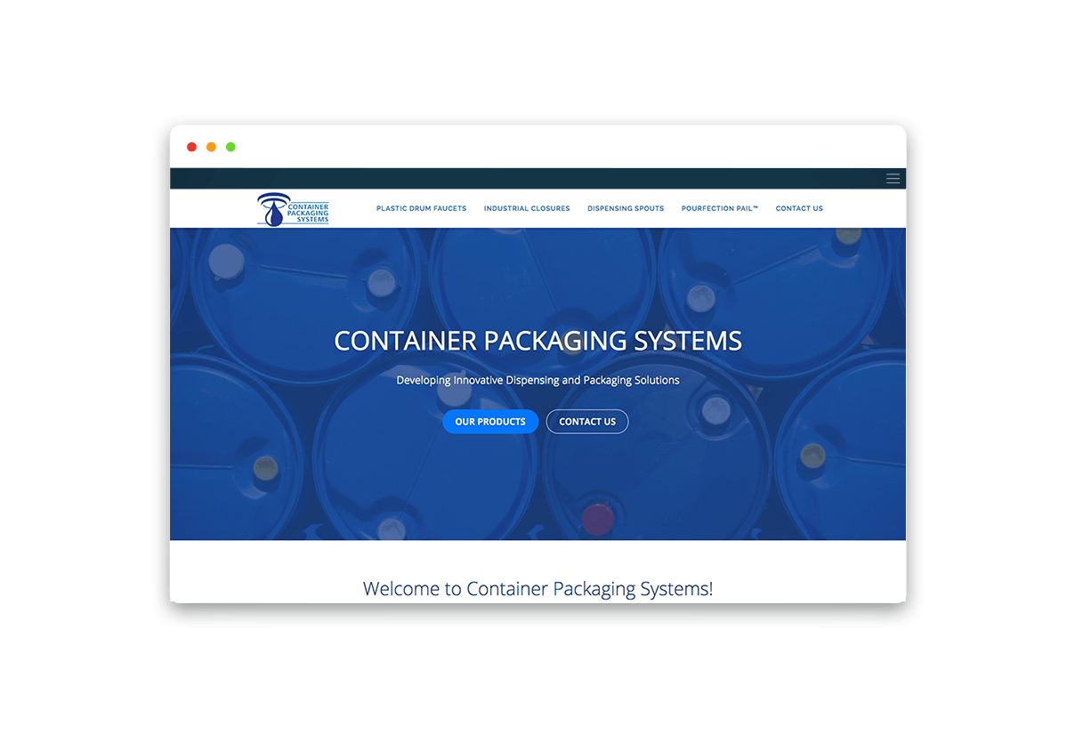 Container Packaging Systems Website