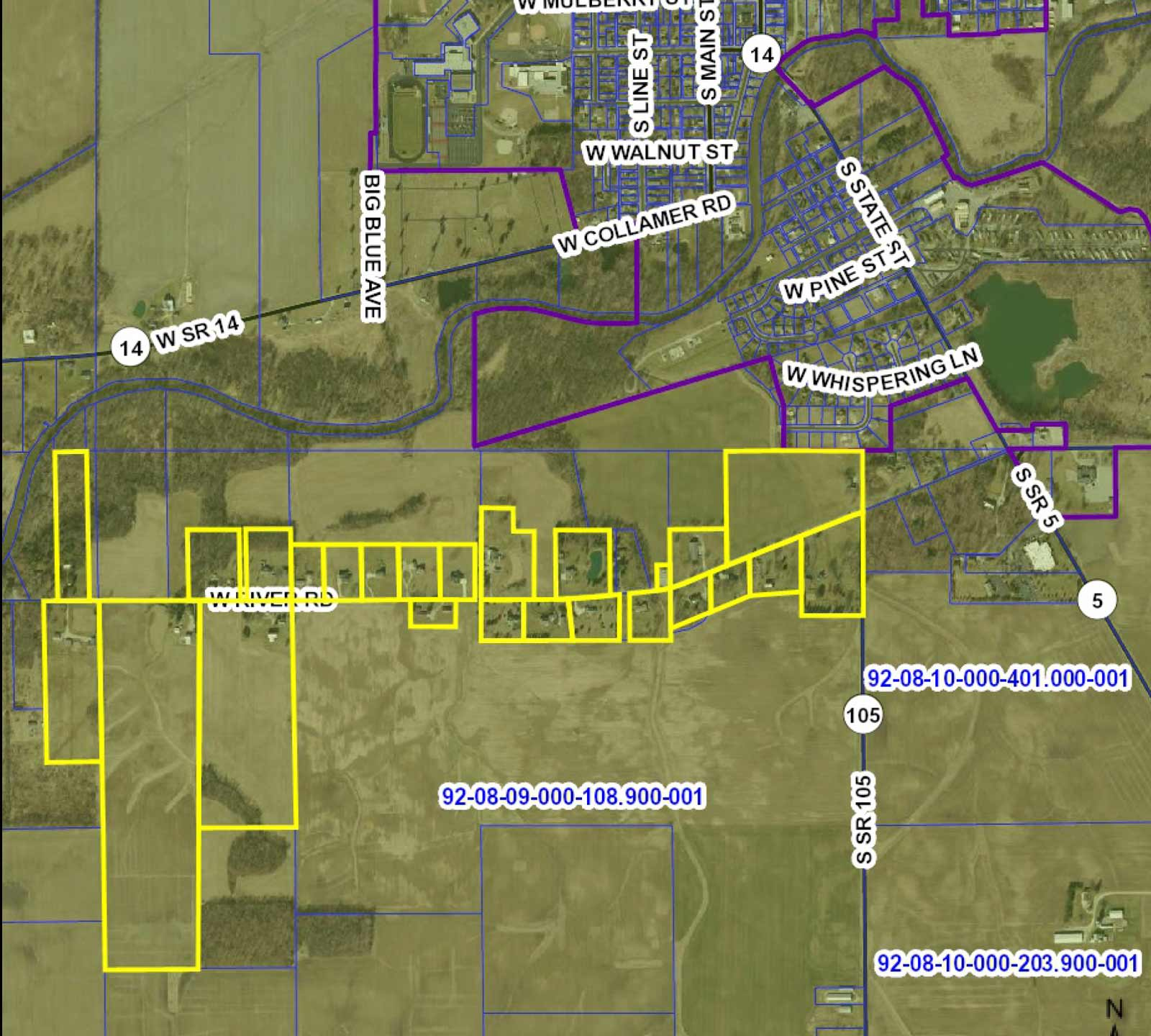 South Whitley Project Map